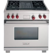Wolf 36 Inch Pro-Style Dual-Fuel Range DF364CLP