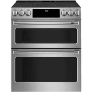 Cafe 30 Inch Smart Slide-In Double Oven Electric Range CES750P2MS1