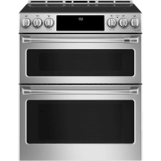 Cafe 30 Inch Smart Slide-In Double Oven Induction Range CHS950P2MS1