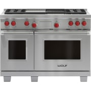 Wolf 48 Inch Pro-Style Dual-Fuel Range DF484CGLP