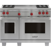 Wolf 48 Inch Pro-Style Dual-Fuel Range DF484F