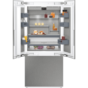 Gaggenau 400 Series 36 Inch Panel Ready Built-In French Door Smart Refrigerator RY492704