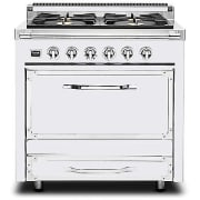 Viking Tuscany Series 36 Inch Pro-Style Dual Fuel Range TVDR3604BAW