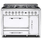 Viking Tuscany Series 48 Inch Pro-Style Dual Fuel Range TVDR4806BAW