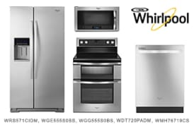 whirlpool stainless steel 4piece kitchen appliance package