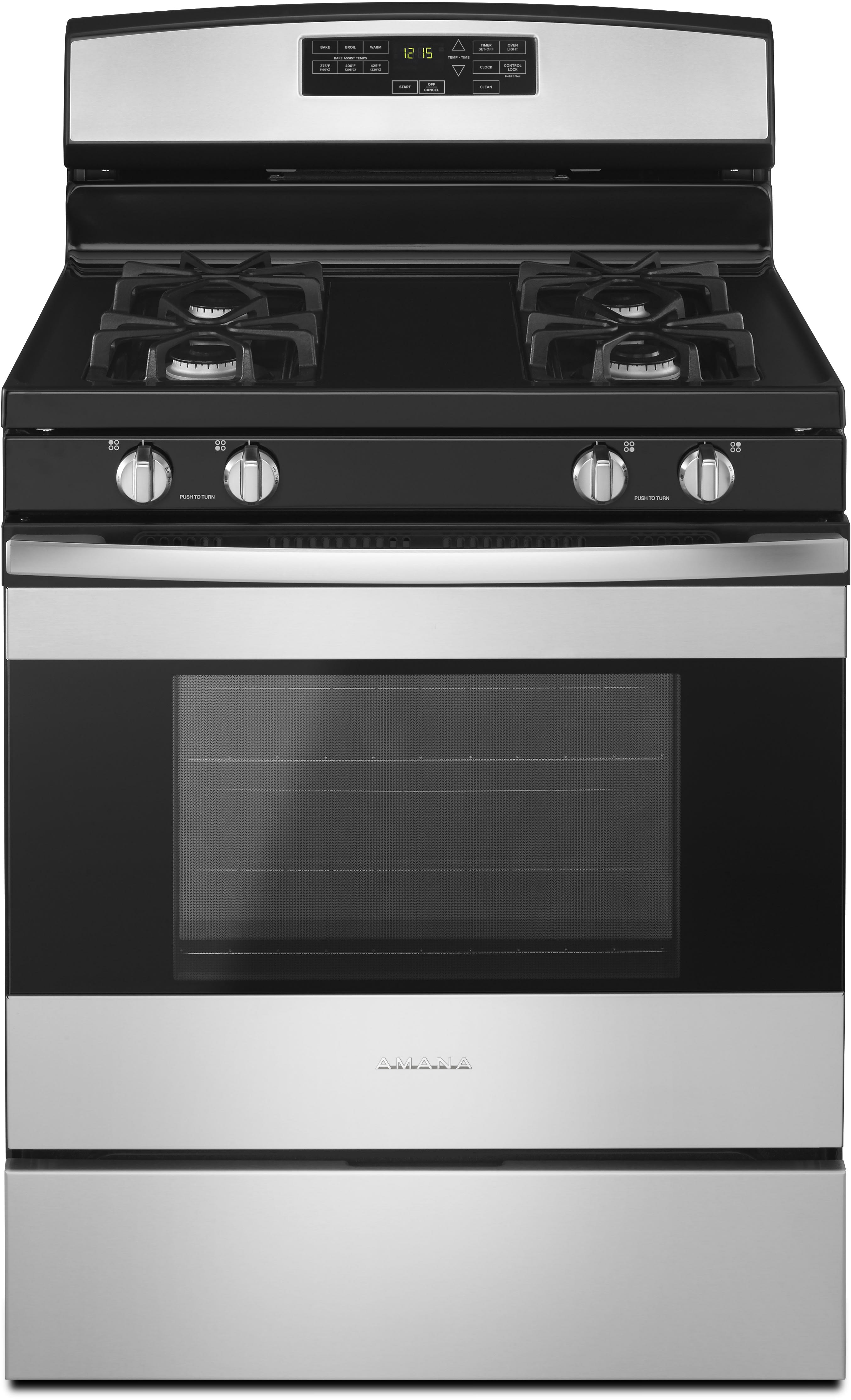 amana agr6603sfs 30 inch gas range with bake assist temperatures