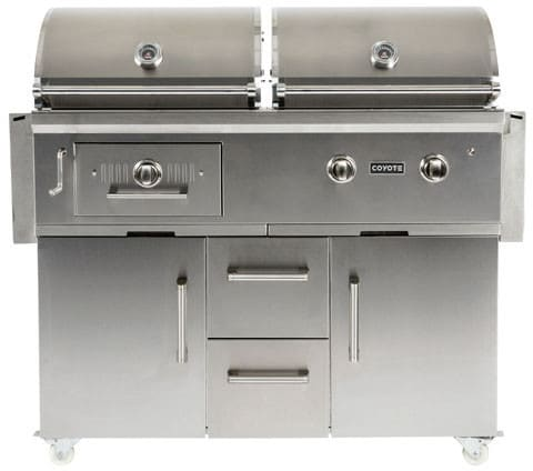 Coyote C1hy50lp 50 Built In Hybrid Charcoal Gas Grill Shown