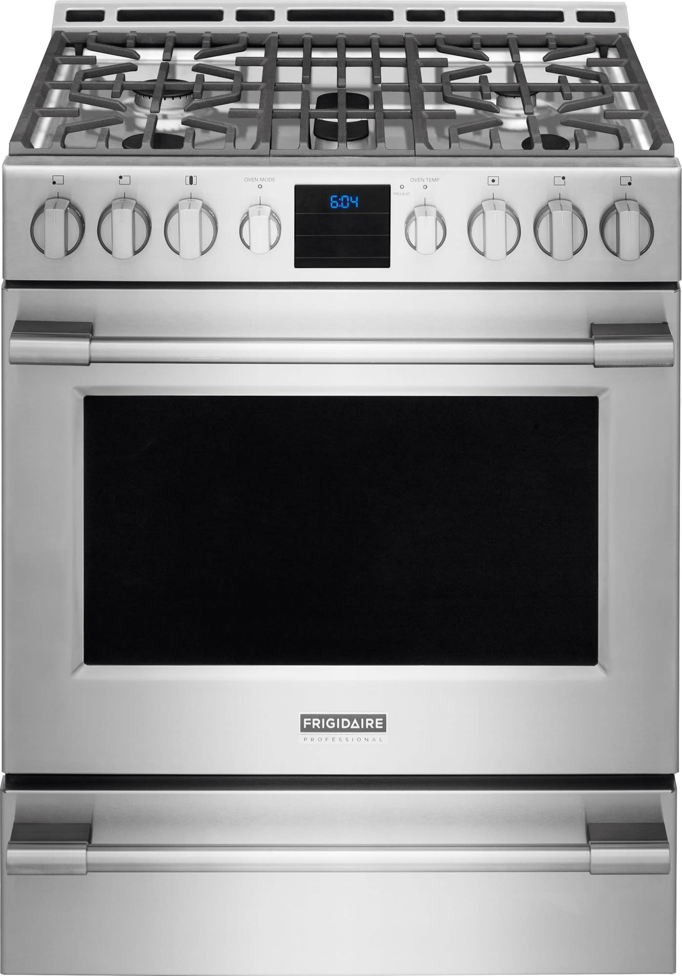Frigidaire FPGH3077RF 30 Inch Freestanding Gas Range with 5 ... on