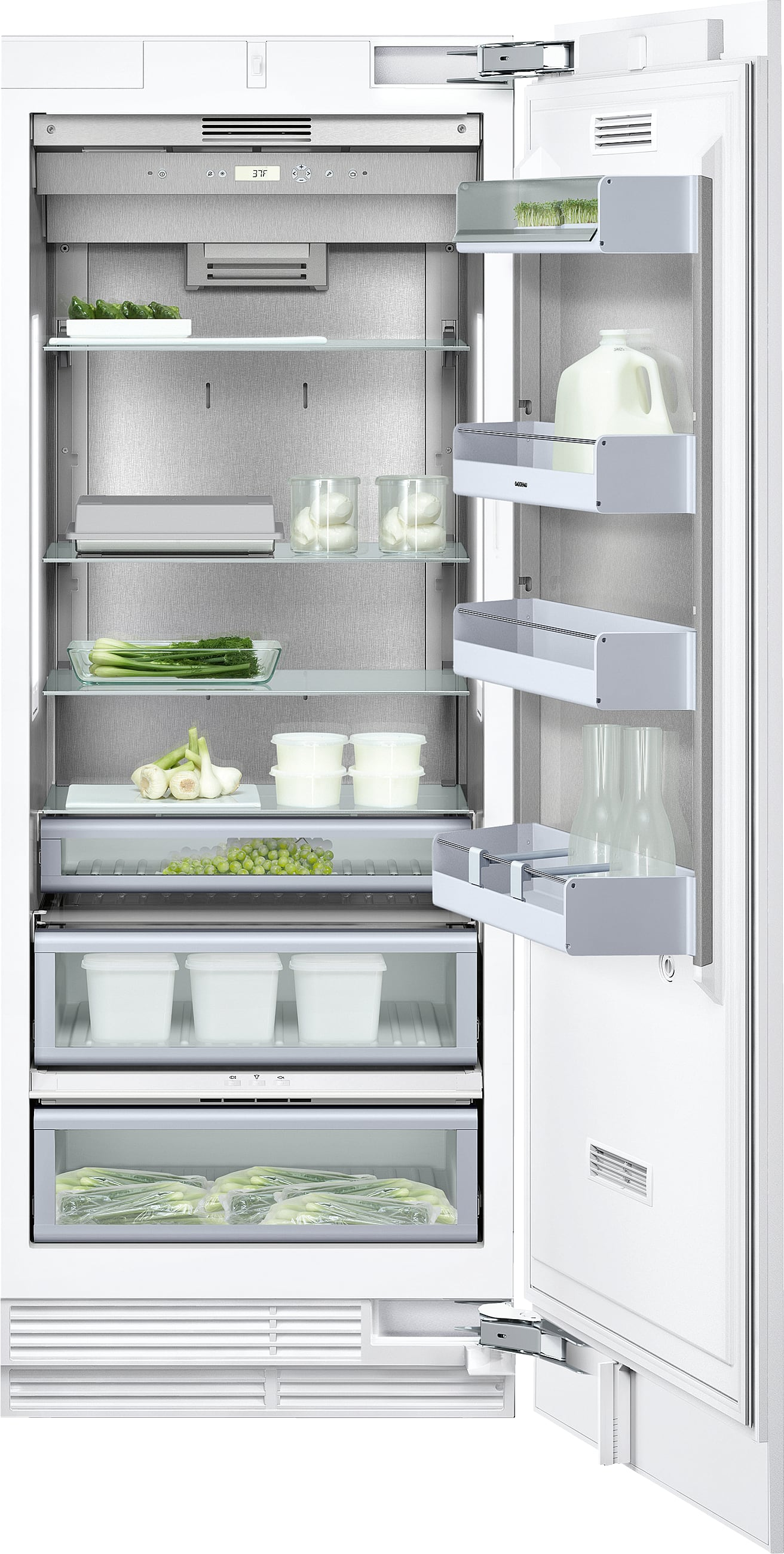 gaggenau rf461701 24 inch built in freezer column with. Black Bedroom Furniture Sets. Home Design Ideas