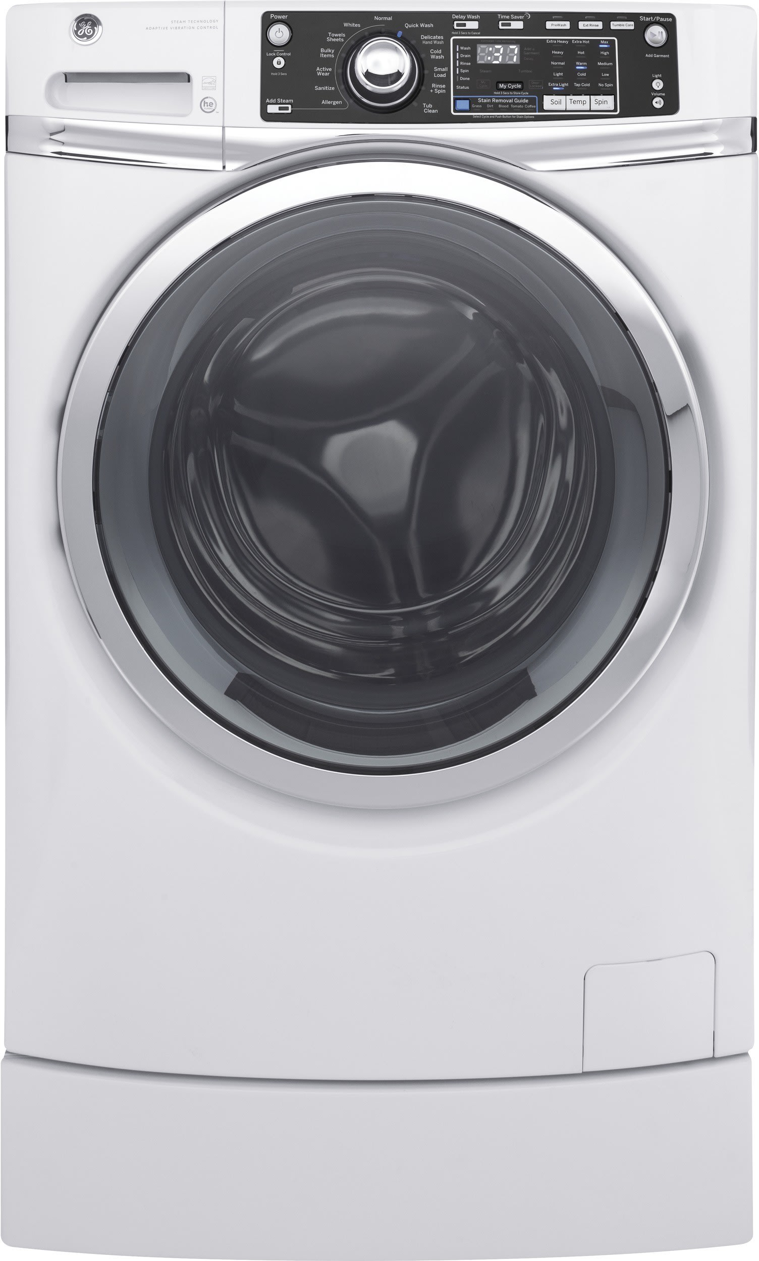 Ge Gfdr270ehww 28 Inch 8 1 Cu Ft Electric Dryer With 12