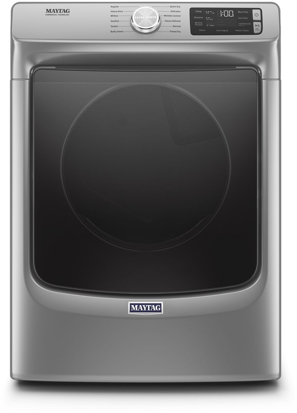 Maytag Mgd6630hc 27 Inch 7 3 Cu Ft Gas Dryer With 12 Dry Cycles 4 Temperature Settings Sanitize Cycle Quick Dry Cycle Extra Power Button Advanced Moisture Sensing And Energy Star Certified Metallic Slate