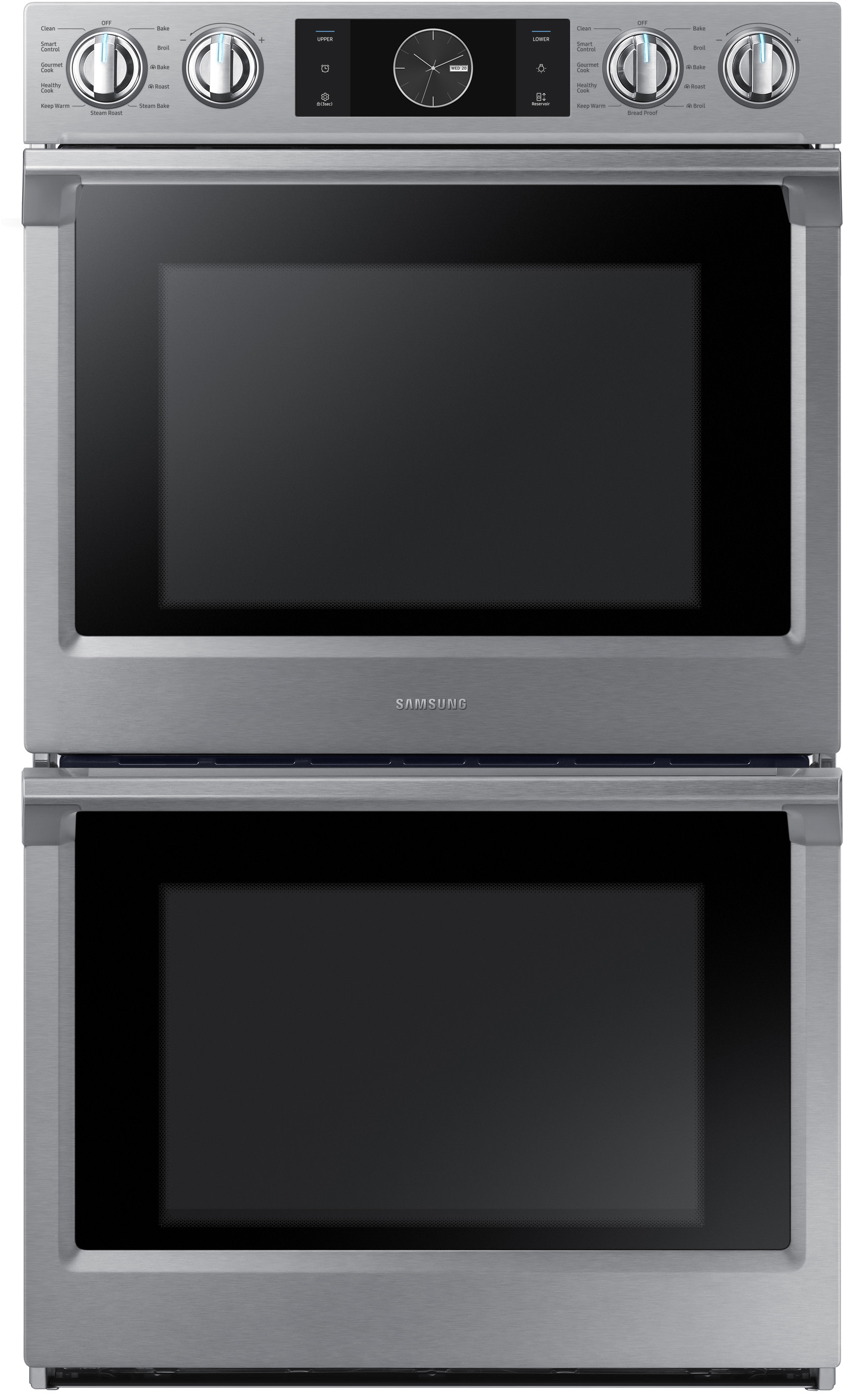 Samsung Nv51k7770ds 30 Inch Electric Double Wall Oven With 51 Cu Wiring Diagram For Dacor Ft Capacity Steam Cook Flex Duo Smart Divider 3 Separate Temperature Zones