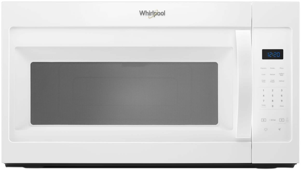 Whirlpool Wmh31017hw 1 7 Cu Ft Over The Range Microwave With Presets Adjule Lighting Dishwasher Safe Turntable Add 30 Seconds