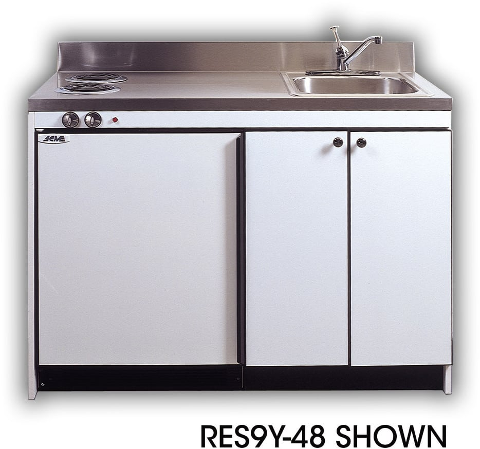 Acme RES9Y48 Compact Kitchen with Sink Compact Refrigerator and