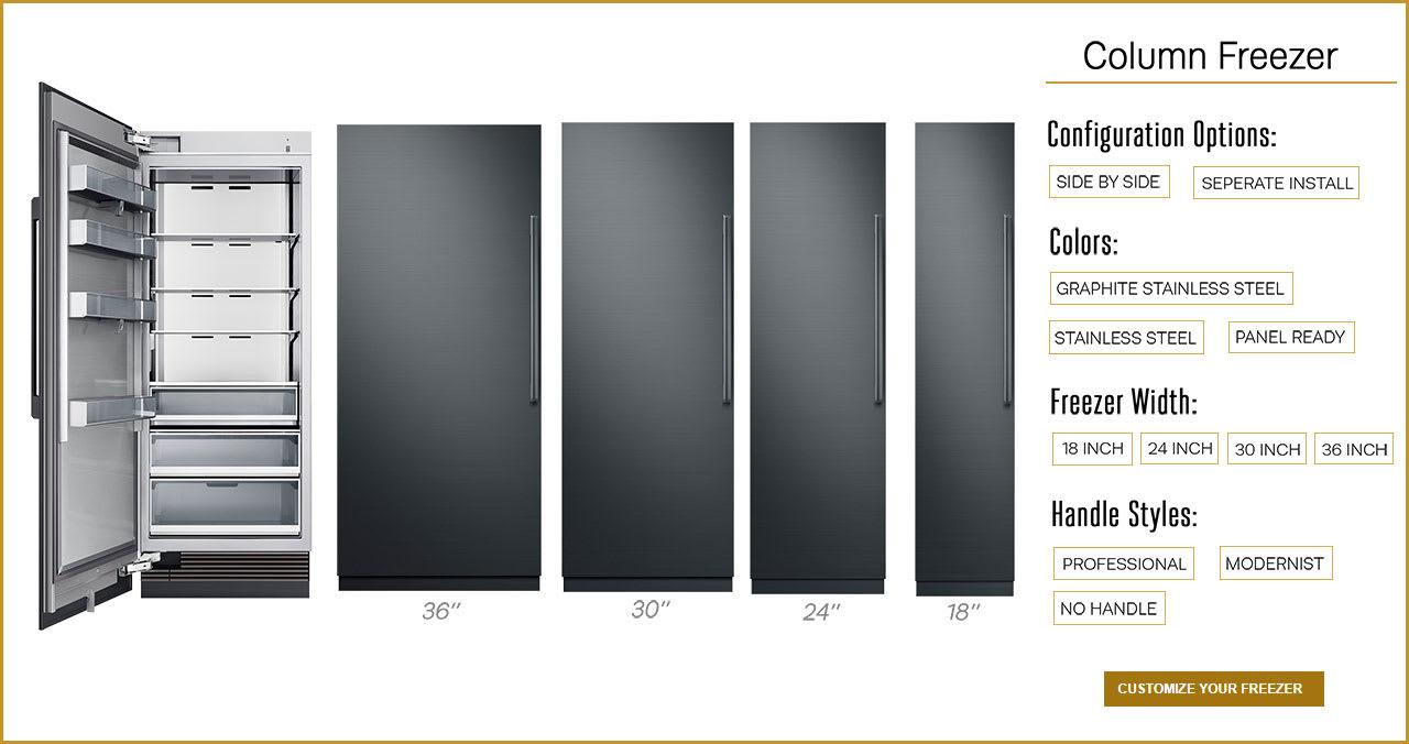 Dacor column freezer configuration