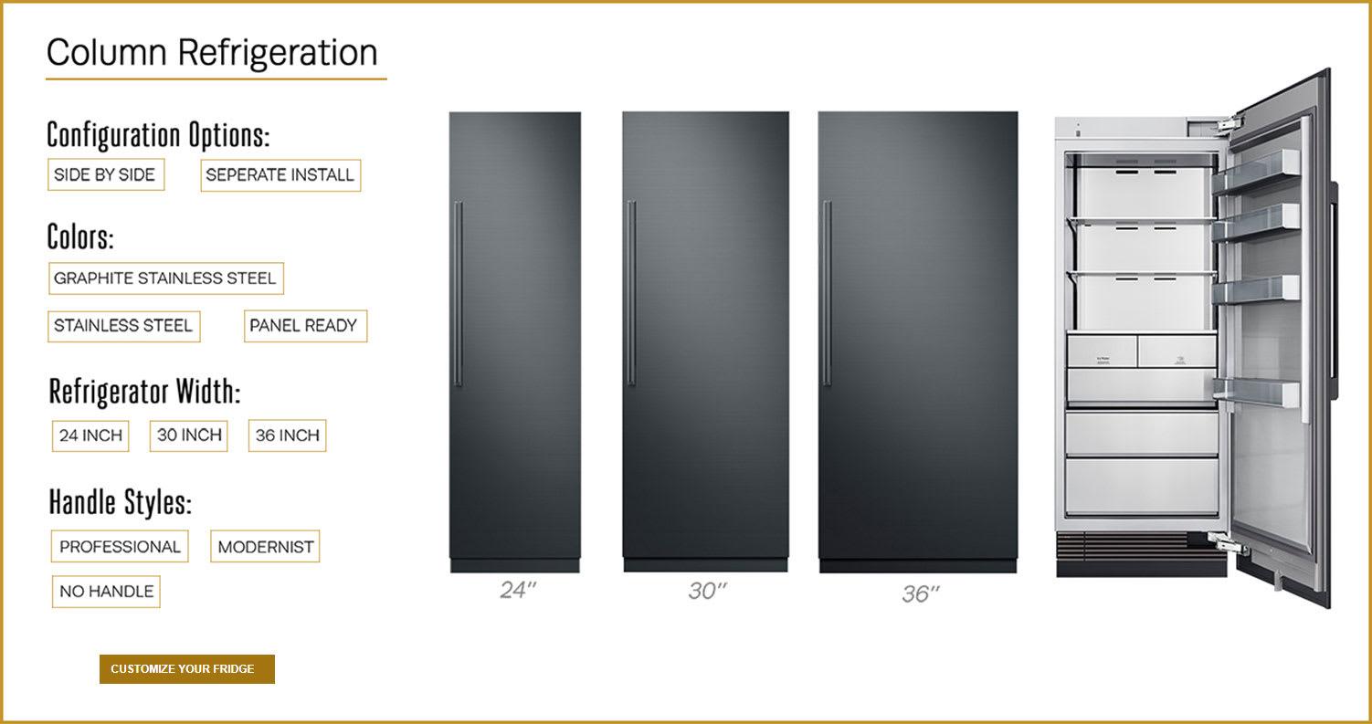 Dacor column refrigeration configuration