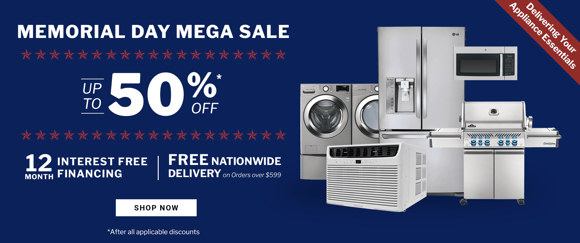 Memorial Day Upto 50% off on Appliance Sale