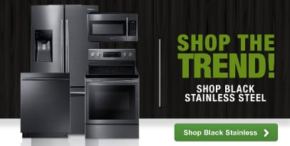 Black Stainless Steel Home Appliances Style Trend