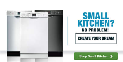 Small Kitchen? No Problem! We have appliances to create your dream kitchen no matter the size!