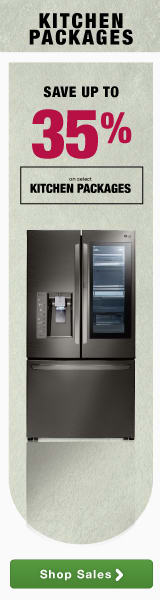 Save up to 35% on select kitchen packages plus 12 month interest free financing and free shipping on orders over $499