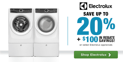 Electrolux Laundry: Save 20% PLUS an additional $100 in rebate savings