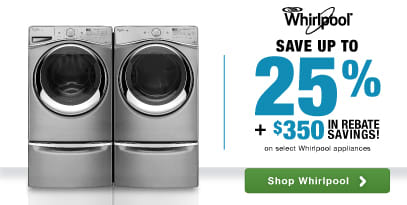 Whirlpool Laundry: Save up to 25% PLUS an additional $350 on laundry