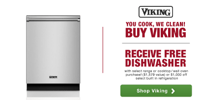 You Cook, We Clean! Get a free dishwasher (value $1579) on with select range or cooktop/wall oven purchase! OR $1000 off select Built in Refrigeration
