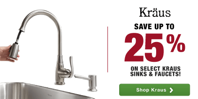 Kraus: Spring Home Improvement Sale-Save up to 25%