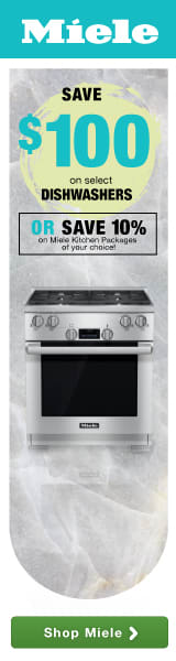 Miele: Your Culinary Adventure Awaits! Save $100 on select dishwashers! OR Save 10% on Miele Kitchen Package of your choice!