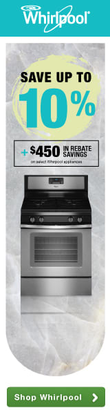 Save up to 10% plus an additional $450 in rebate savings on select kitchen packages