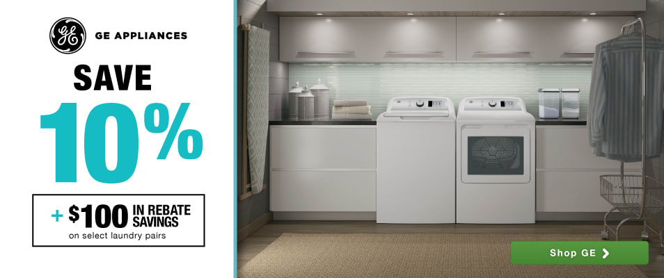 beautiful Best Online Shopping Sites For Kitchen Appliances #7: GE Laundry Event: Save 10% plus $100 in rebate savings on select laundry  pairs