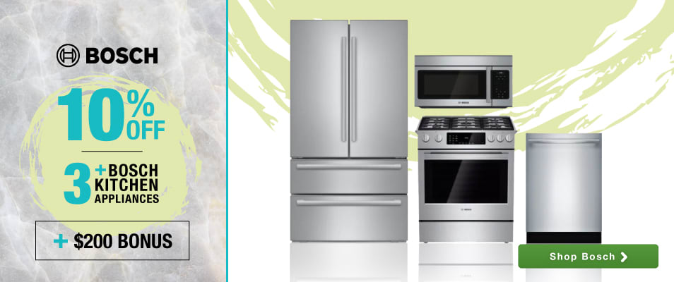 superb Best Online Shopping For Kitchen Appliances #9: Bosch: 3+ Kitchen Packages - Receive 10% off + Potential $200