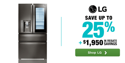LG: Save up to 25% plus an additional $1950 in rebate savings