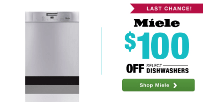 Miele: $100 off Select Dishwashers