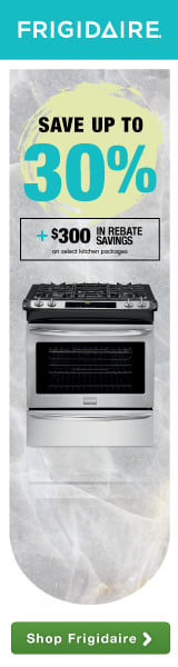 Frigidaire Gallery Spring Bonus Days Event! Save up to 30% plus an additional $450 in rebate savings on select kitchen packages