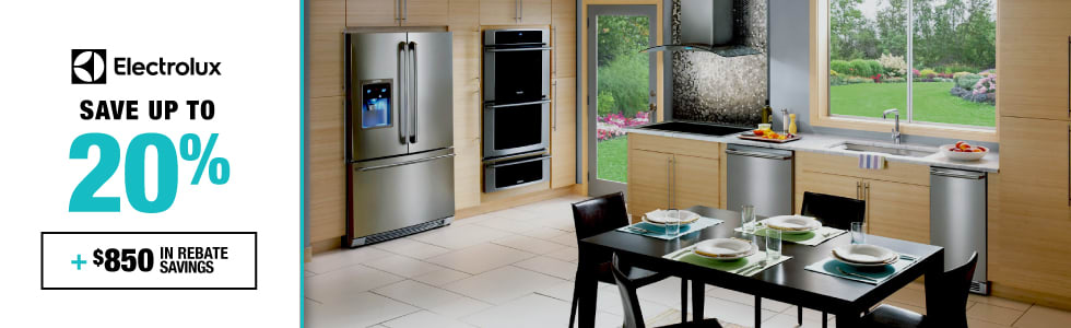 Electrolux: Save up to 20% plus an additional $850 in rebate savings