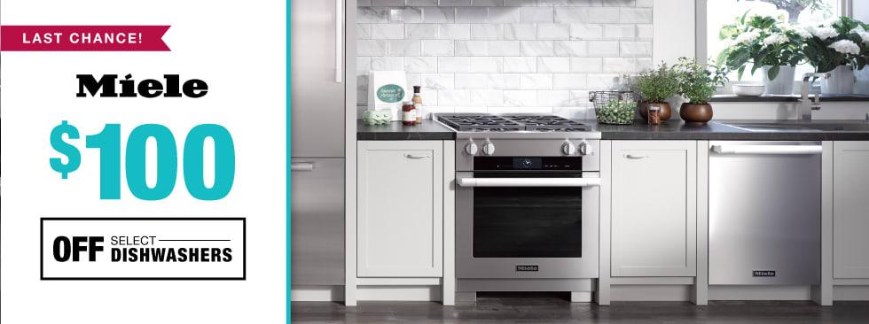 $100 off select dishwashers