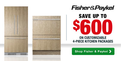 Fisher & Paykel: Save up to $600 on Customizable 4-Piece Kitchen Packages