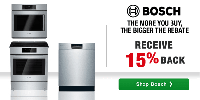 Bosch: The More You Buy, the Bigger the Rebate! Receive 15% Back!