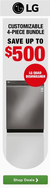 LG QUADWASH DISHWASHER - LG 4-Piece Bundle Your Way - Receive Up to $500