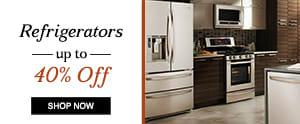 Refrigerators up to 40% off