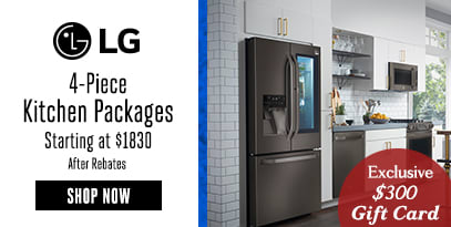 AJ EXCLUSIVE LG KP 4 PIECE STARTING AT $1830 + $300 AJ GIFT CARD (AFTER REBATES)