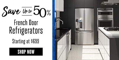 French Door Refrigerators: Starting at $699, Save up to 50% off