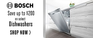 Bosch: Save up to $200 on select Dishwashers