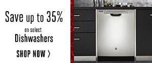 Dishwashers - Up to 35% Off