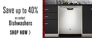 Dishwashers - Up to 40% off