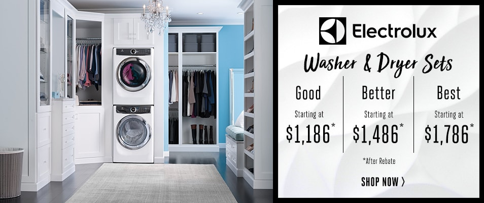 electrolux laundry sets good starting at better starting at best