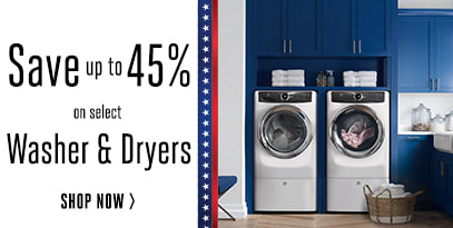 Save up to 45% on select Washers & Dryers
