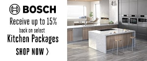 Bosch - Receive up to 15% back on select kitchen packages
