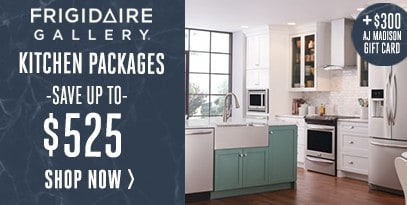 Frigidaire Gallery Kitchen Package Save Up to $525- $300 Gift Card